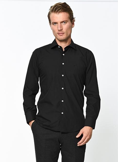 Wessi Uzun Kollu Slim Fit Gömlek Siyah